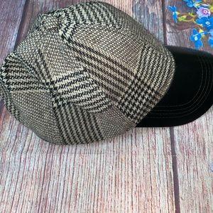 Zara Man Houndstooth Adjustable Cap Baseball Hat